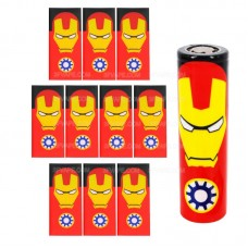 Термоусадки на батарейки 18650 с изображением E-Iron Man